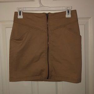 H&M tight camel mini skirt